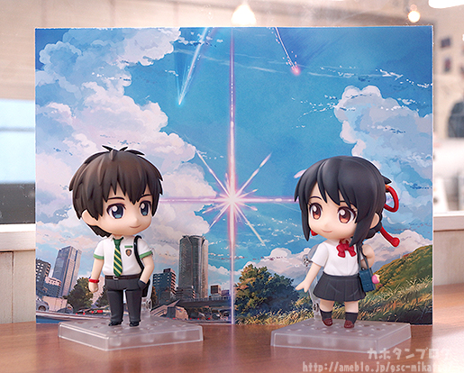 Taki & Mitsuha Nendoroid with bonus Backdrop